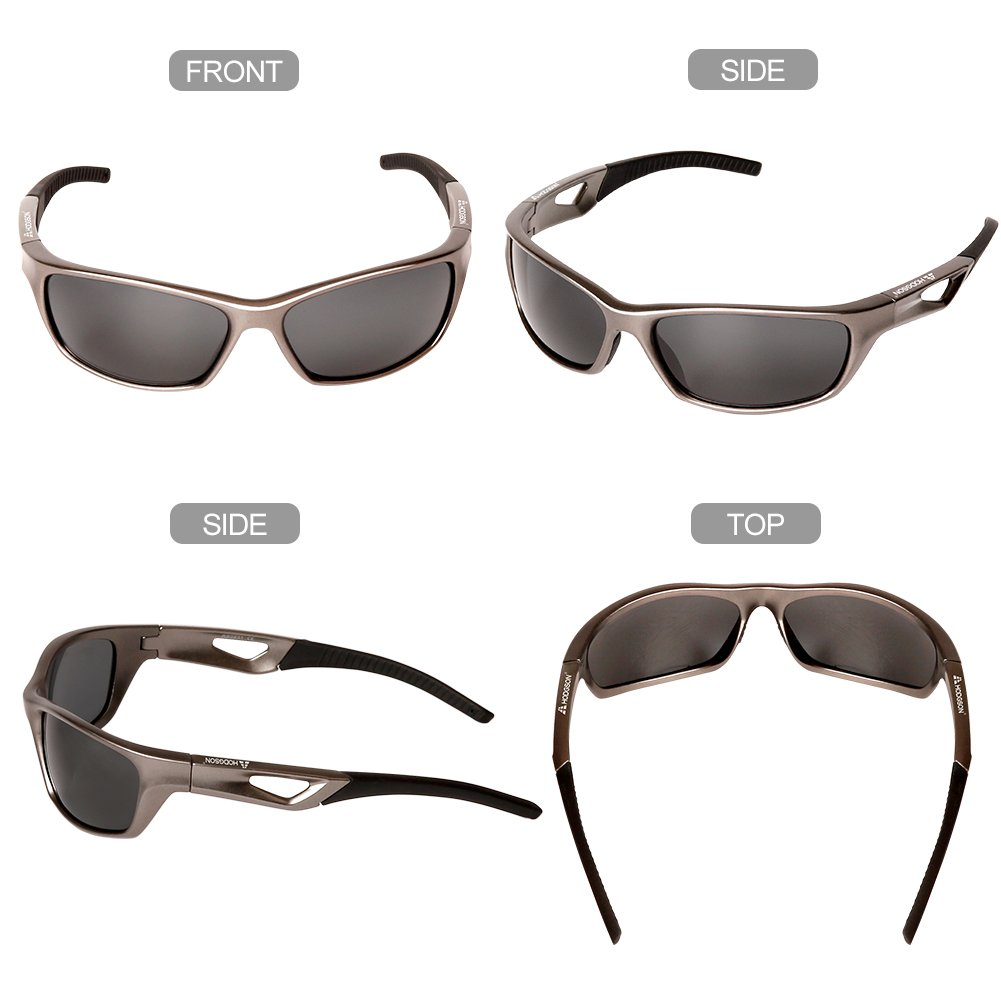 HODGSON Sports Polarized Sunglasses for Men Women, UV400 Protection Unbreakable Sports Glasses for Cycling, Baseball Riding, Driving, Running, Golf and Other Outdoor Activities (Dark Brown) by HODGSON (Image #6)