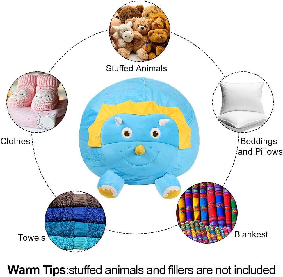Blankets Unicorn Dinosaur Clothes FANKUTOYS Toy Storage Bean Bag,Stuffed Animals Storage Bean Bag,Toy Storage Organizer Stuffed for Children,Used for Toys Towels