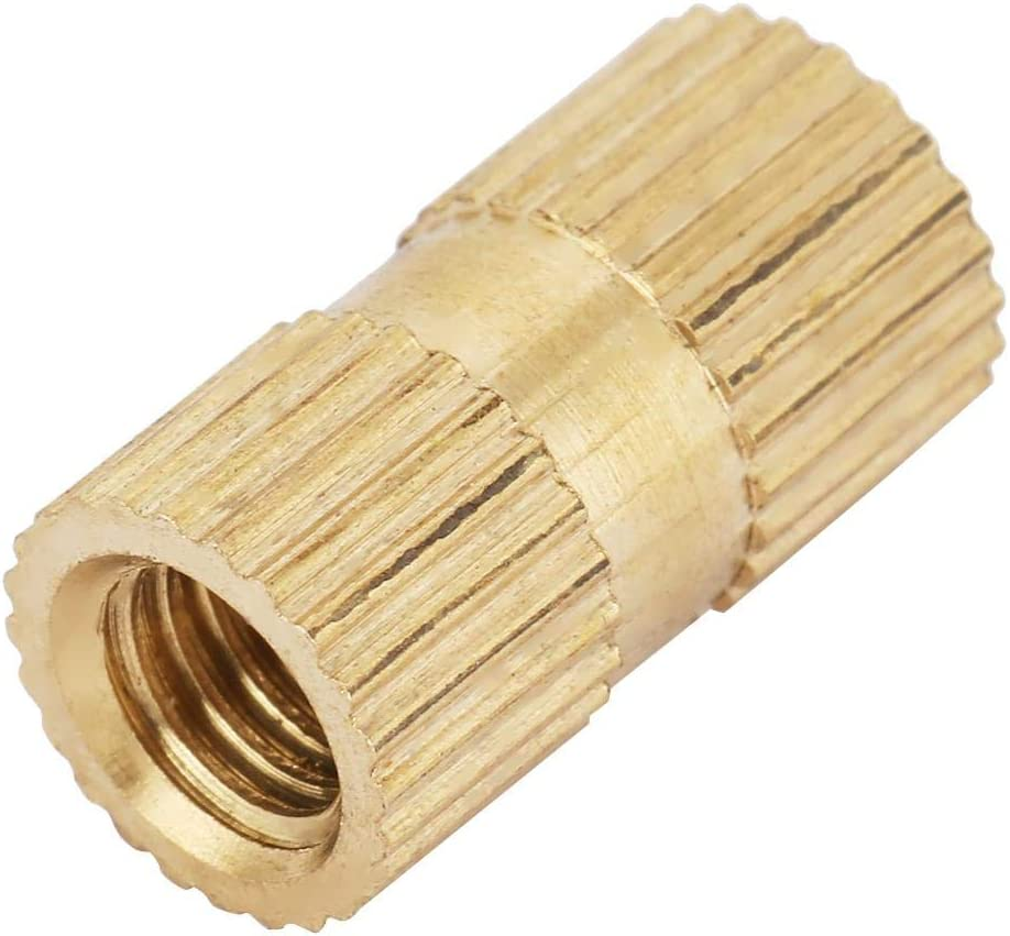 M5167.3 10pcs koulate Brass Threaded Insert Nuts M5 Cylinder Knurled Round Molded-in Insert Embedded Nuts