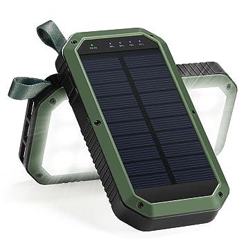 Cargador solar Power Bank, hongro 8000 mAh 3 Puertos USB ...