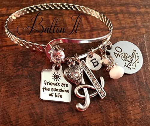 Amazon.com: Best Friend Gift, FRIENDSHIP Bracelet, Friend Birthday Gift, 40th Birthday, Gifts