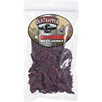 Old Trapper Old Fashioned Beef Jerky | Traditional Style Real Wood Smoked | Healthy Snack Made from 100% Top Round Steaks | 10 Ounce Bag