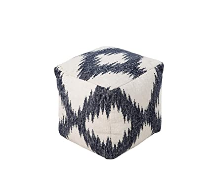 Wondrous Amazon Com Diva At Home 18 Ivory And Navy Blue Ibusinesslaw Wood Chair Design Ideas Ibusinesslaworg