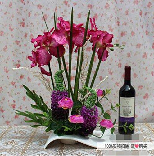 Phalaenopsis Artes, flores secas en macetas juego de simulaci¨®n, de seda flores artificiales, sala de estar, mesa de comedor colocaron arreglos flor