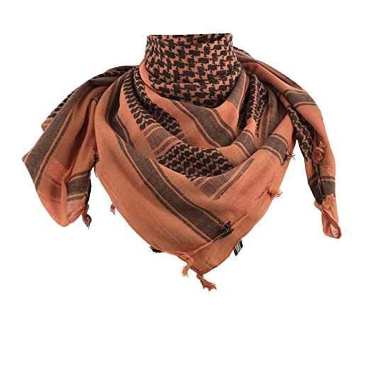 Amazon.com  M-Tac Shemagh Tactical Desert Head Neck Scarf Men Military Army  Cotton Wrap (Orange - Black)  Clothing a4702b46653a