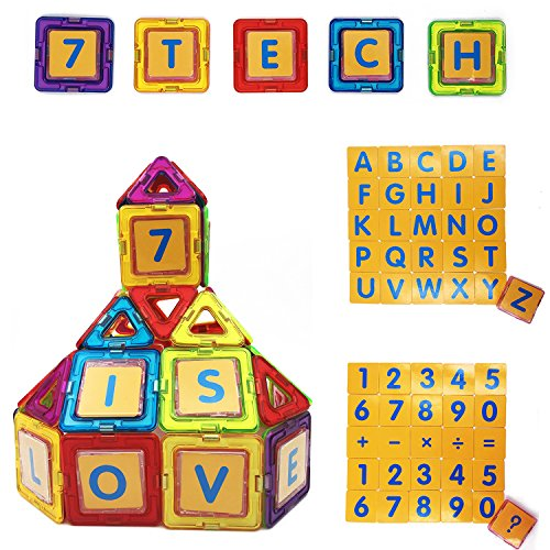 7TECH Magnetic Tiles 91 Pieces Set