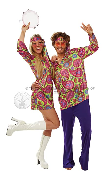 Cheap Paisley Hippy Costumes Set for Couple
