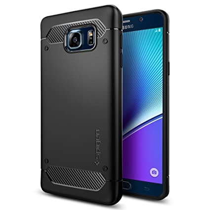sports shoes ebcee 21e1b Galaxy Note 5 Case, Spigen [Rugged Armor] Resilient [Black] Ultimate  protection and rugged design with matte finish for Galaxy Note 5 (2015) -  Black ...