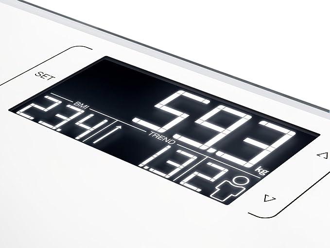 Soehnle Style Sense Multi 200 - Bascula de bano, color blanco: Amazon.es: Salud y cuidado personal