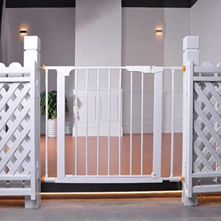 Indoor Safety Gates Extra Wide Baby Gate With Door For Stairs With