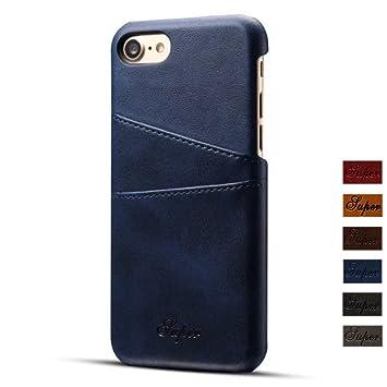 64b406f609 iPhone7 ケース FELITAS 高級PU アイフォン7 対応 ケース かっこいい 復古レザー アイホン7カバー 背面