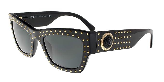Versace 0VE4358 Gafas de sol, Black, 52 para Mujer: Amazon ...