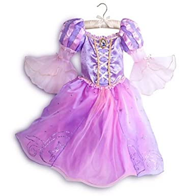 Amazon.com Disney Store Deluxe Tangled Rapunzel Halloween Costume Size Medium 7 - 8 Clothing  sc 1 st  Amazon.com & Amazon.com: Disney Store Deluxe Tangled Rapunzel Halloween Costume ...
