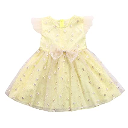 555a5b80e18a9 Amazon.com: Wedding Party Birthday Dresses Princess Ceremony Babies Girls  Flower Print Bow Ruffle Sleeve Tutu Mesh Ball Gowns Toponly: Musical  Instruments
