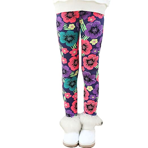 ac7e21acb6e Fancy Youyee Toddler Kids Girls Pants Winter Thick Fleece Lined Christmas  Leggings Tights (3 Color