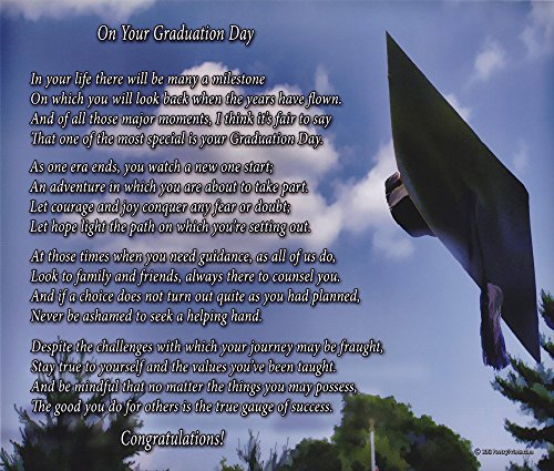 Graduation Guy - On Your Graduation Day - Poem Print (8x10) - Beautiful Graduation Gift