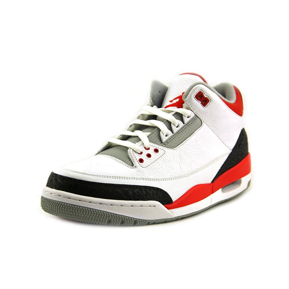 White Black Fire Red Nike Men's Air Jordan 5 Retro Basketball shoes