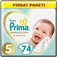 Prima Bebek Bezi Premium Care 5 Beden Junior Fırsat Paketi, 74 Adet