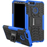 Bracevor HON7XDKSBU Back Case Cover with Kickstand for Huawei Honor 7X (Blue)