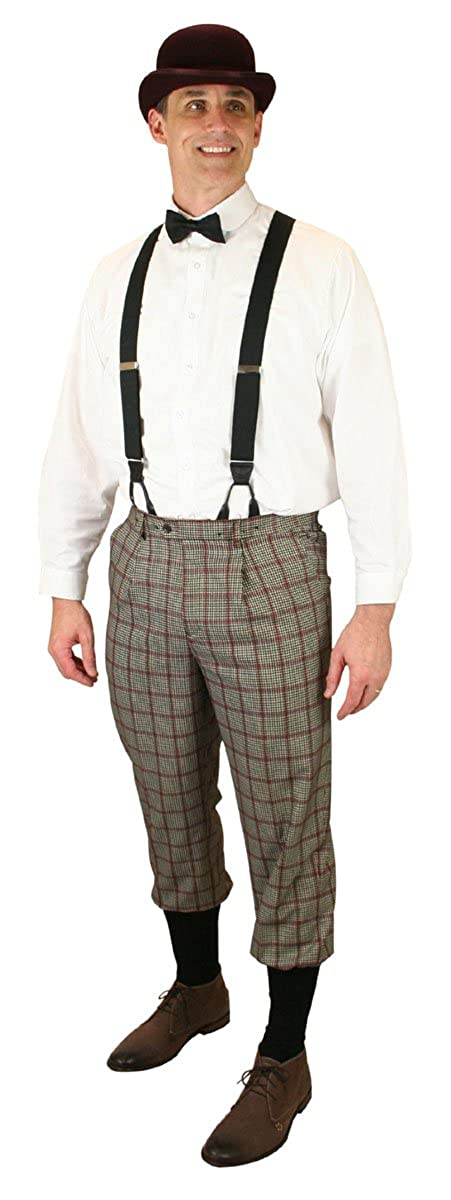 Edwardian Men's Pants, Trousers, Overalls  Gallagher Plaid Knickers Historical Emporium Mens $64.95 AT vintagedancer.com