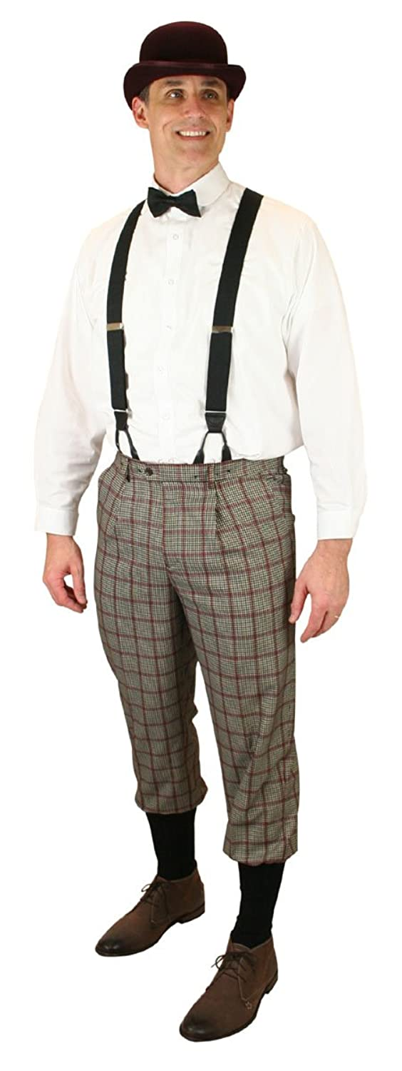 Edwardian Men's Pants, Trousers, Overalls Gallagher Plaid Knickers Historical Emporium $64.95 AT vintagedancer.com