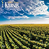 Kansas, Wild & Scenic 2018 12 x 12 Inch Monthly Square Wall Calendar, USA United States of America Midwest State Nature (Multilingual Edition)