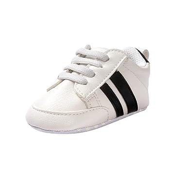 4cc7c11735fbb Fossen Zapatos de bebé calzado deportivo de cuero antideslizante inferior  suave para niños pequeños infantiles Primeros pasos  Amazon.es  Ropa y  accesorios