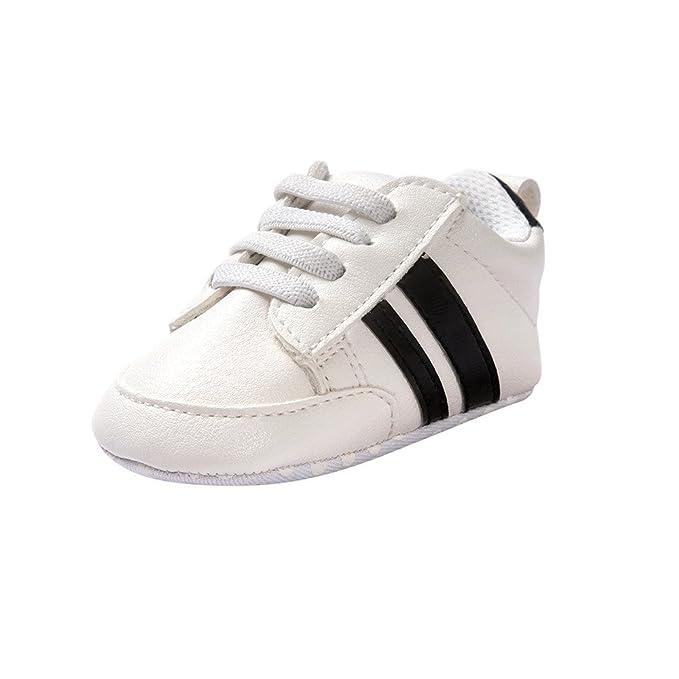 Fossen Zapatos de bebé calzado deportivo de cuero antideslizante inferior suave para niños pequeños infantiles Primeros pasos: Amazon.es: Ropa y accesorios