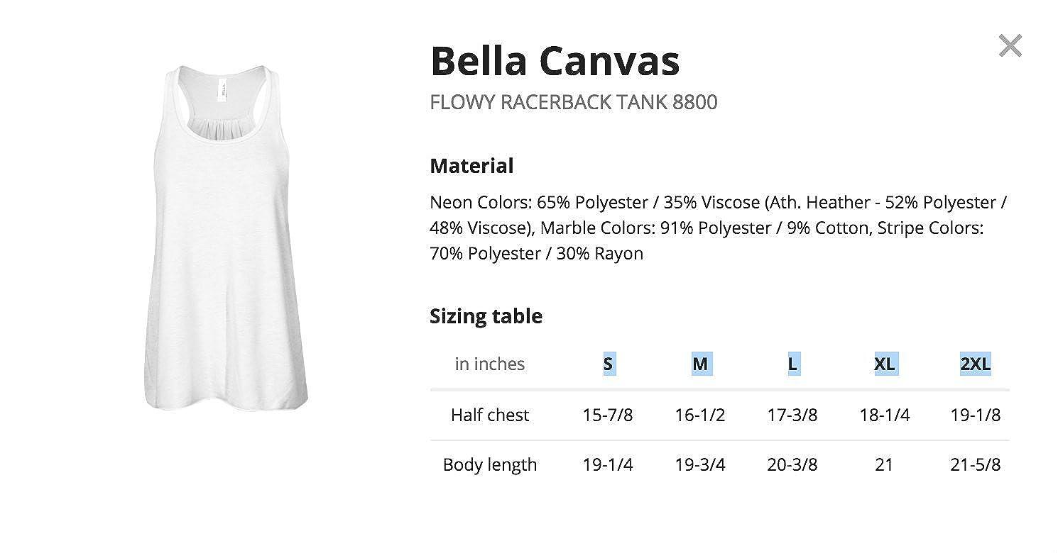 Flowy Racerback Tank Teely Shop Womens Womans I Love Garbage or Recycling Trucks Bella Canvas