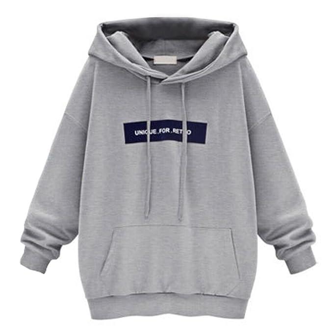 99e39c2eda9 Sonnena Long Pullover Hoodies for Women Women s Hooded Sweatshirt Jumper  Womens Sweatshirts for Women Hoodie Printed Loose Casual Oversized  Sweatshirts ...