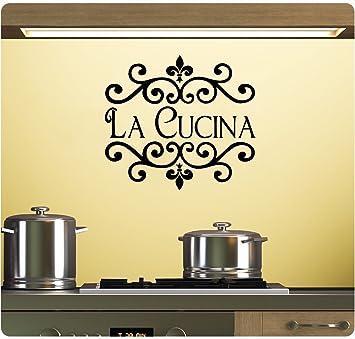 wandaufkleber 3d schlafzimmer Wall Sticker Quotes La Cucina Wall ...