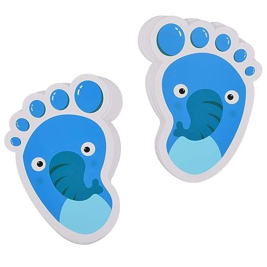 40 Pairs Kids Floor Stickers Self-Adhesive Footprints Stickers Floor Decals for Kids Room Party Nursery Floor Stairs