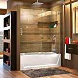 DreamLine Mirage-X 56-60 in. Width, Frameless Sliding Tub Door, 3/8'' Glass, Chrome Finish