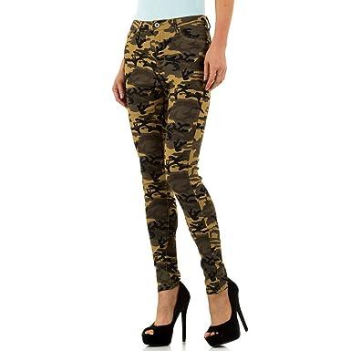 aa6c5e1317dac2 Ital-Design Low Camouflage Skinny Jeans Für Damen: Amazon.de: Bekleidung