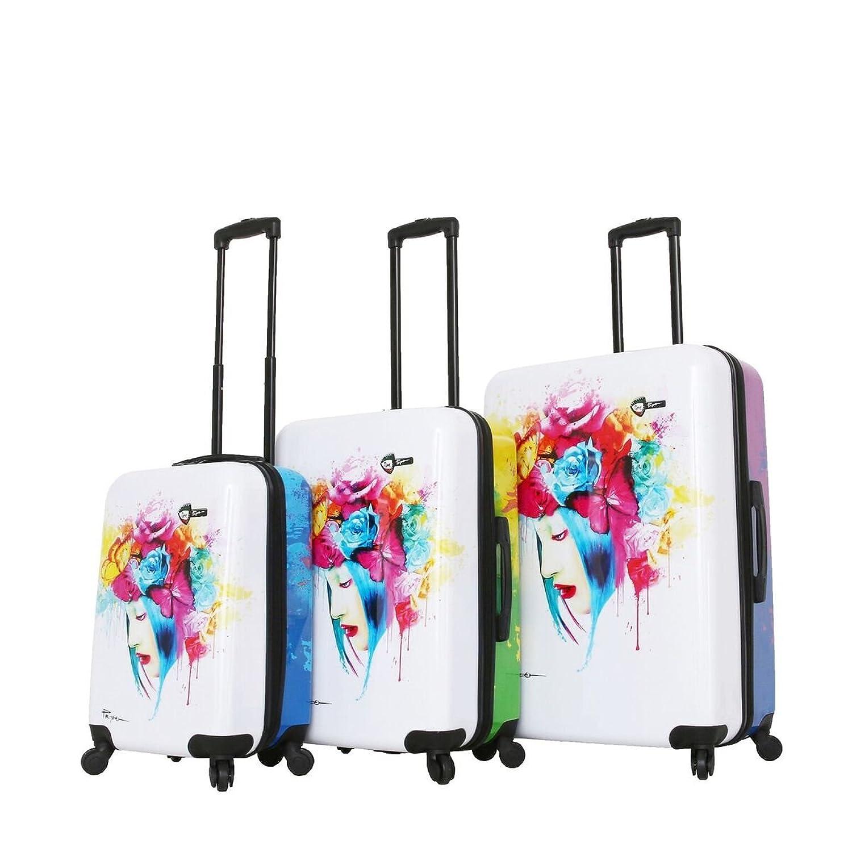 58aa1b4ea Details about Mia Toro Italy-Prado-Natural Hardside Spinner Luggage 3pc Set  - 20