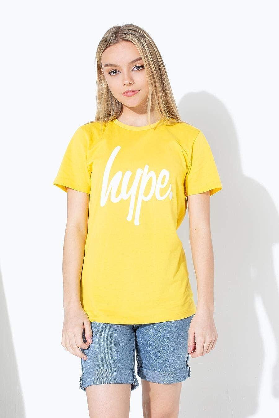 HYPE Camiseta Infantil Amarilla Texto: Amazon.es: Ropa y accesorios