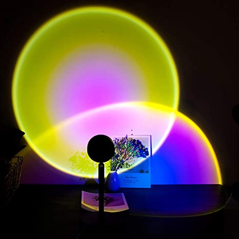 Sunset Projection LED Light Rainbow Stand Lamp Night Light Romantic Projector