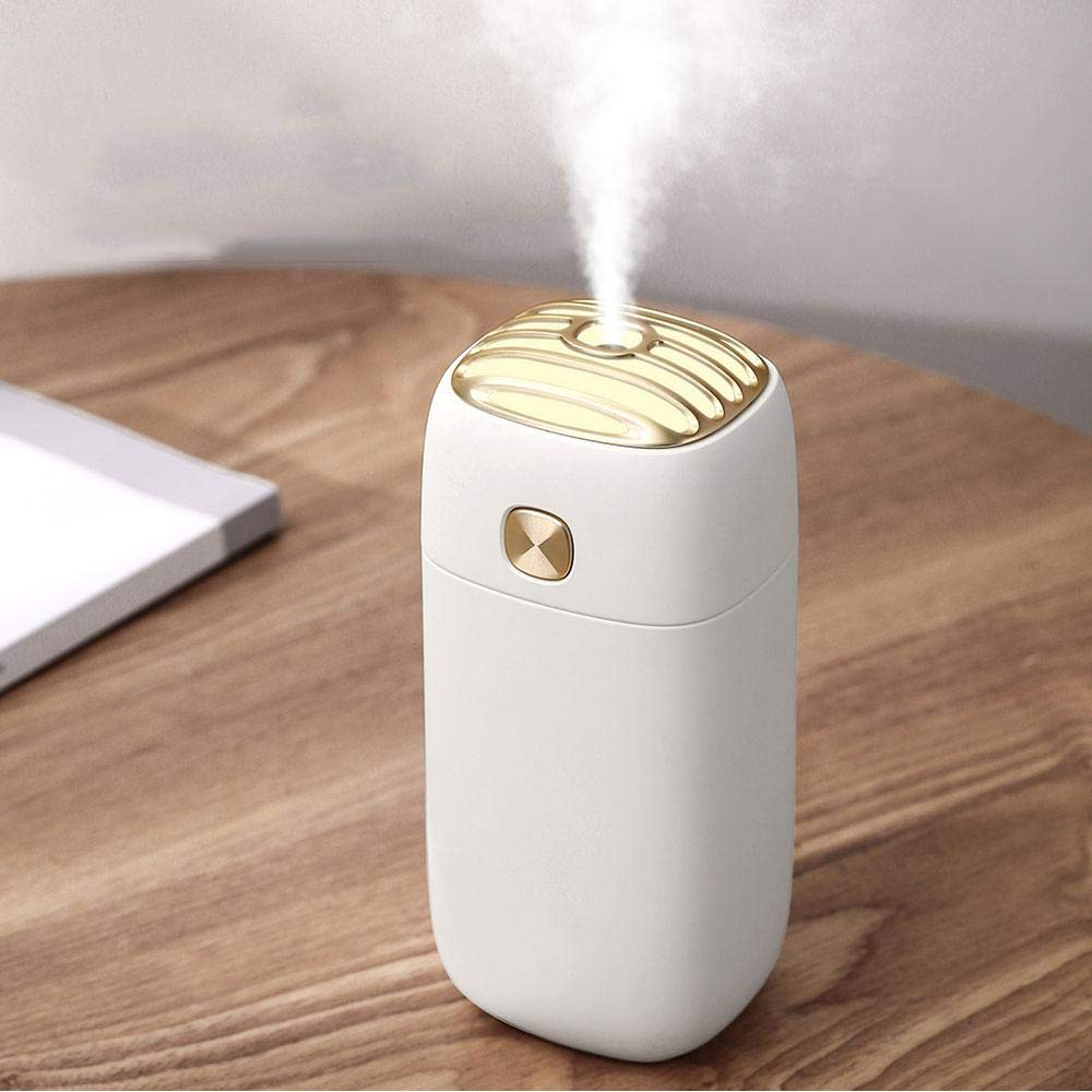 KOBWA Cool humidificateur Mist, Portable F2Ancienne en émail humidificateur Auto Cool Mist purificateur d'air avec câble USB, pour la Maison, Yoga, Bureau, Spa, Chambre à Coucher, Salle de bébé Chambre à Coucher