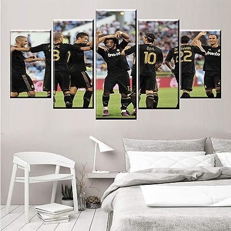 sobre Lienzo la Imagen 5 Paneles Real Madrid Club De Futbol ...