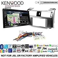 Volunteer Audio Kenwood DNX574S Double Din Radio Install Kit with GPS Navigation Apple CarPlay Android Auto Fits 2010-2013 Non Amplified Toyota 4Runner