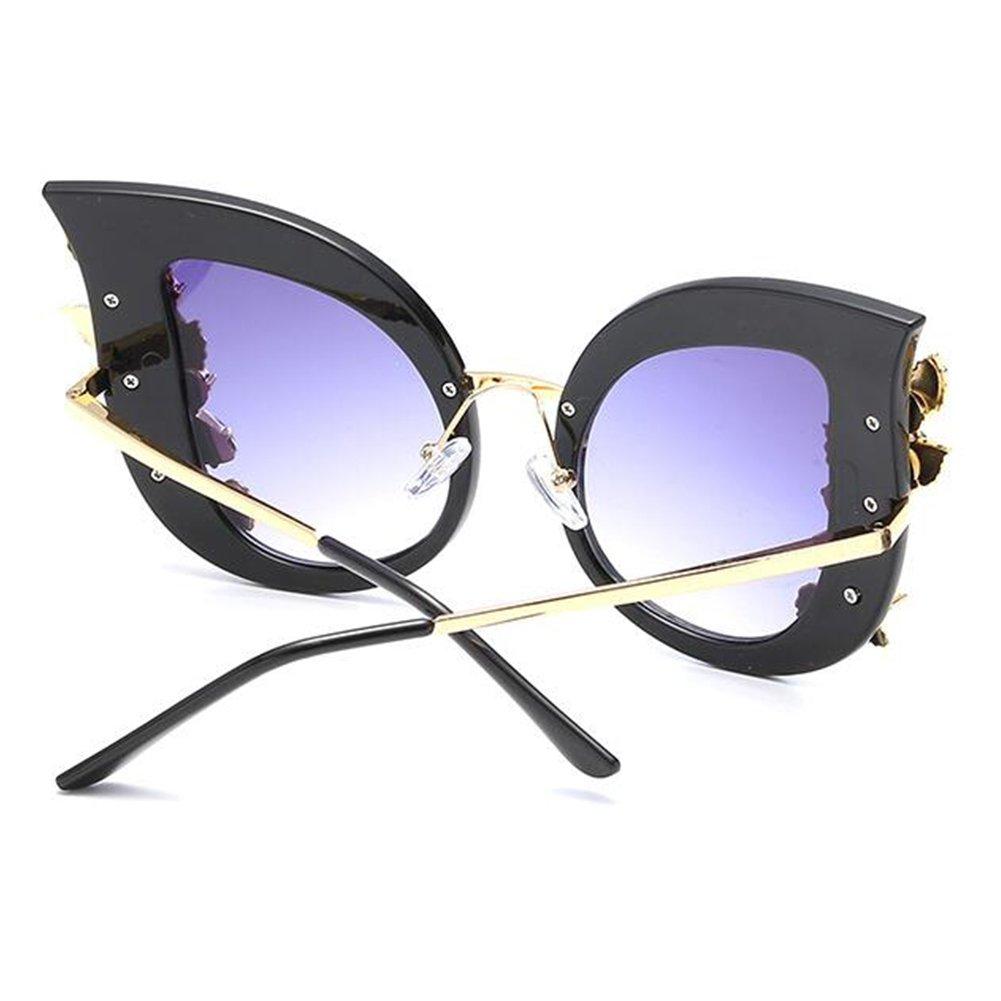 Inlefen Femme Lunettes de soleil oeil de chat /Él/égant cadre surdimensionn/é Lunettes avec strass