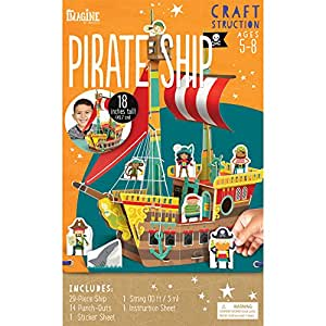 Imagine by Bendon Craft-Structions Make Your Own Pirate Ship Kit (98498)