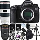 Canon EOS 5DS R DSLR Camera with EF 24-70mm f/2.8L II USM Lens & EF 70-200mm f/2.8L IS II USM Lens & 15PC Accessory Kit - Includes 3PC Filter Kit + MORE - International Version(No Warranty)