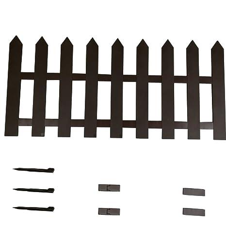 Sti Staccionata Per Recinto Steccato In Plastica Marrone 150x55