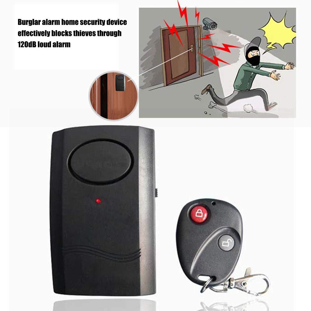Godya Control Remoto inal/ámbrico Tipo vibraci/ón Alarma Puerta y Ventana Bicicleta el/éctrica Motocicleta Alarma antirrobo Sistema de Seguridad Detector