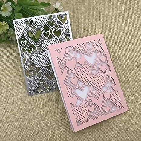Lace Heart DIY Metal Cutting Dies Stencils Embossing Craft Die Cut Paper Cards