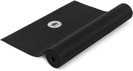 Lotuscrafts Colchoneta de yoga profesional (no contaminante y probada con contaminantes) 183 X 60 X 0,5 Cm Negro: Amazon.es: Deportes y aire libre