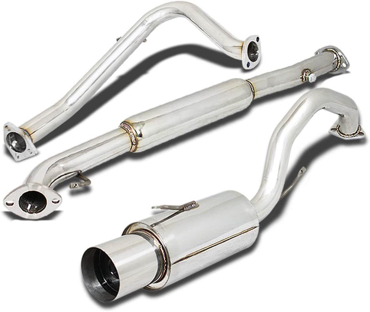 DNA Motoring CBE-HA98L4-BT CBEHA98L4BT Stainless Steel Catback Exhaust System