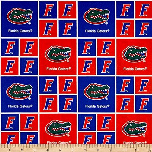 Sykel Enterprises Collegiate Cotton Broadcloth University of Florida Gators Fabric by The Yard, - Gators Fabric