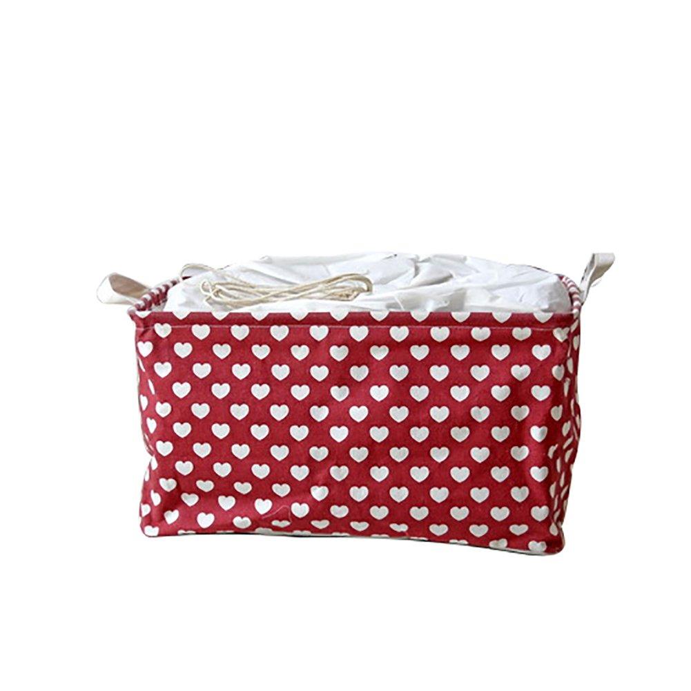 Travel Storage Folding Drawstring Square Storage Basket Big Capacity Toy Laundry Makeup Container Cosmetics Underwear Organizer Clothing & Wardrobe Storage